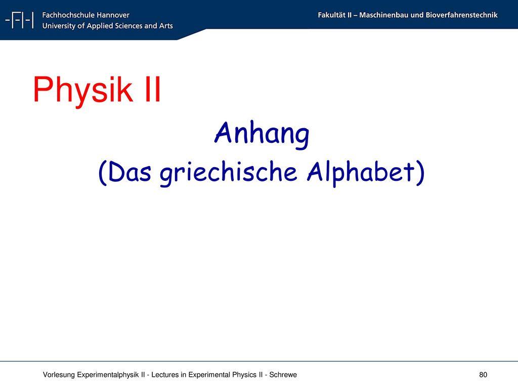 (Das griechische Alphabet)