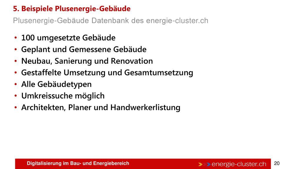 4. Potentiale Plusenergie-Gebäude