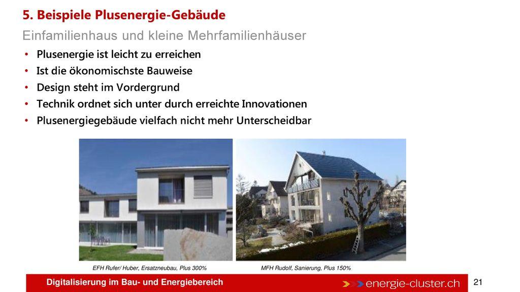 5. Beispiele Plusenergie-Gebäude