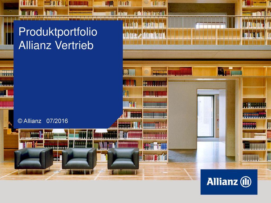 Produktportfolio Allianz Vertrieb