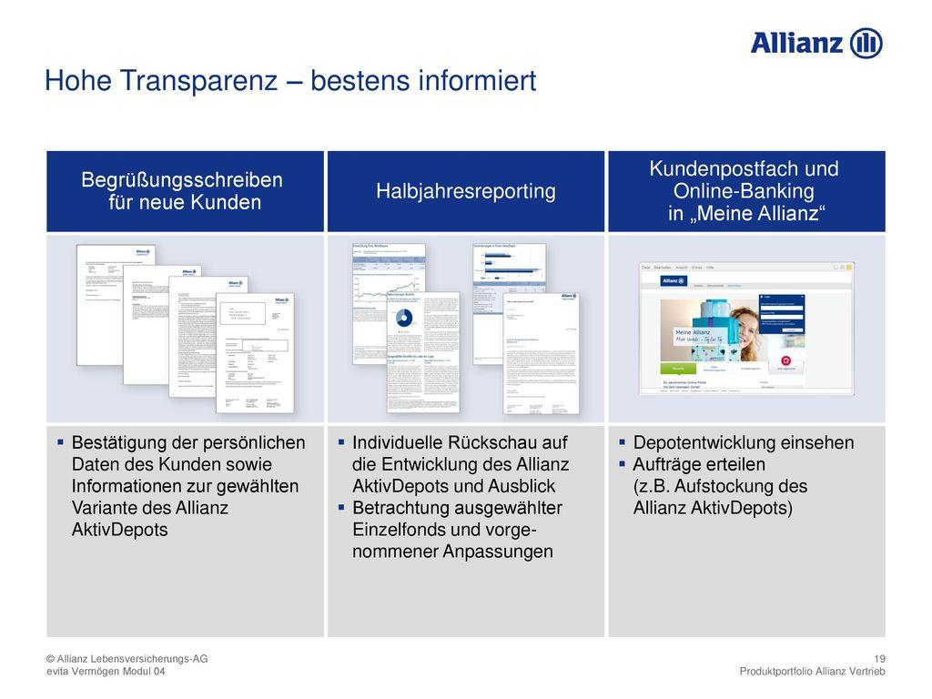 Hohe Transparenz – bestens informiert