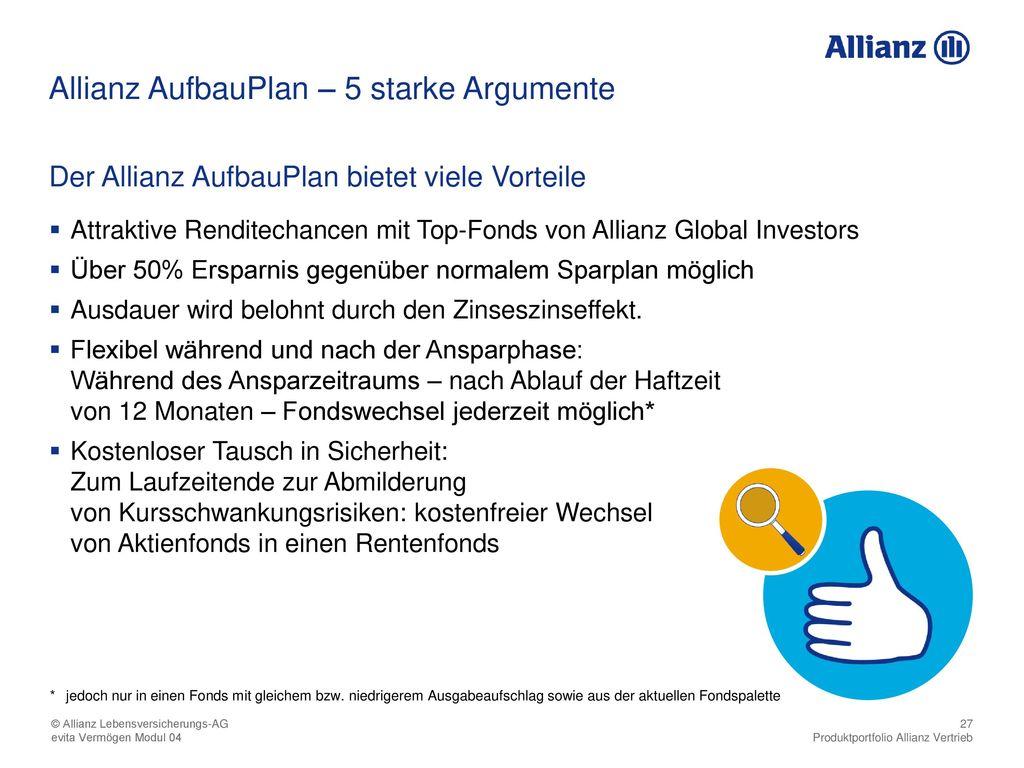 Allianz AufbauPlan – 5 starke Argumente