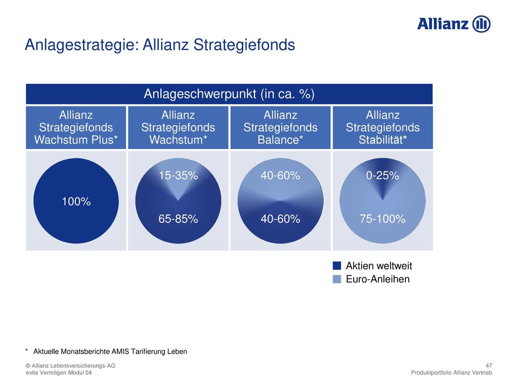 Anlagestrategie: Allianz Strategiefonds