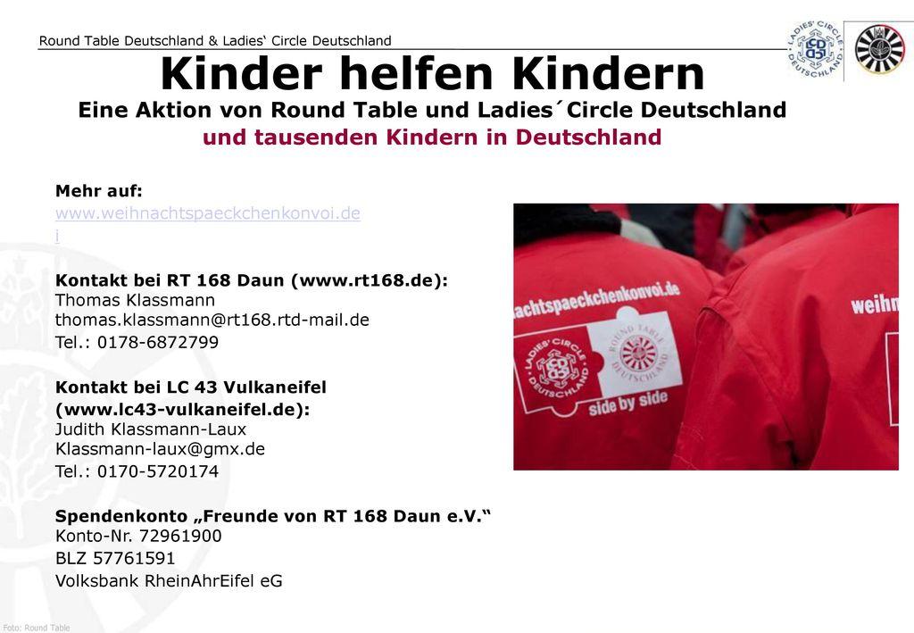 Kinder helfen Kindern Eine Aktion von Round Table und Ladies´Circle Deutschland. und tausenden Kindern in Deutschland.