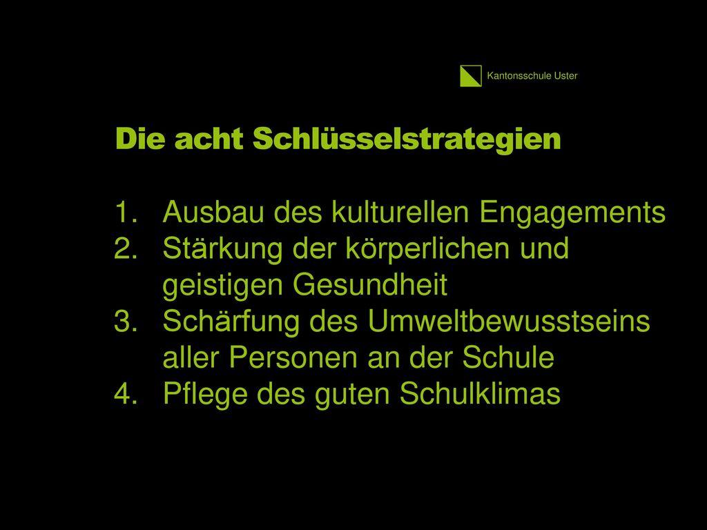 Die acht Schlüsselstrategien