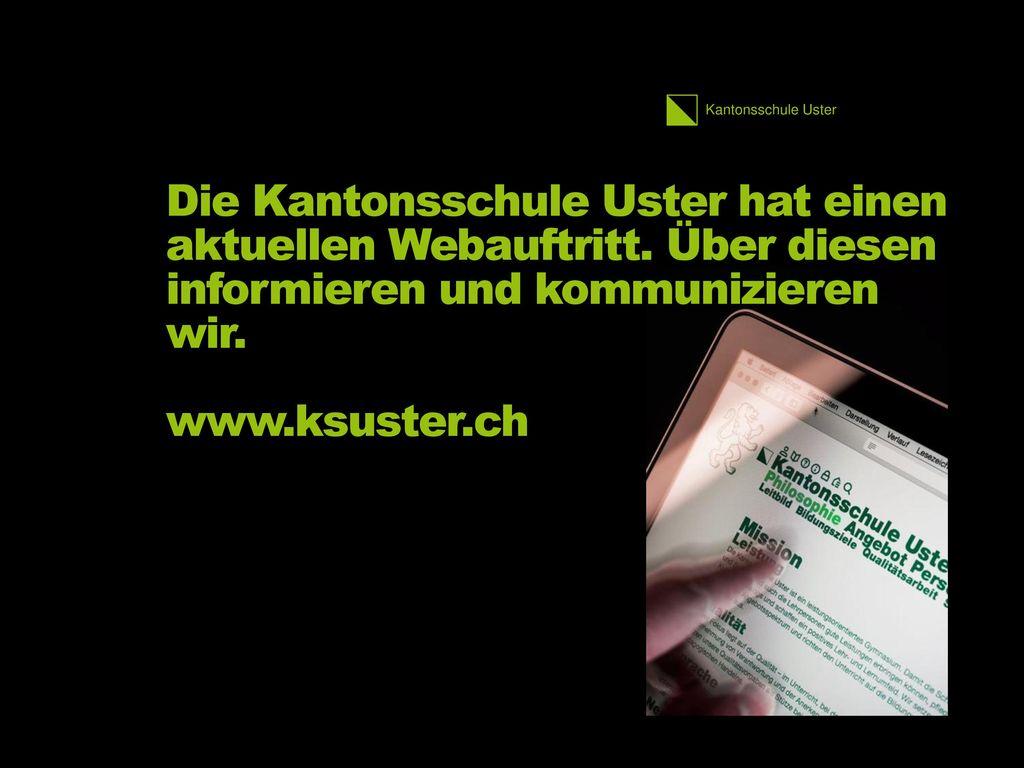 Die Kantonsschule Uster hat einen aktuellen Webauftritt