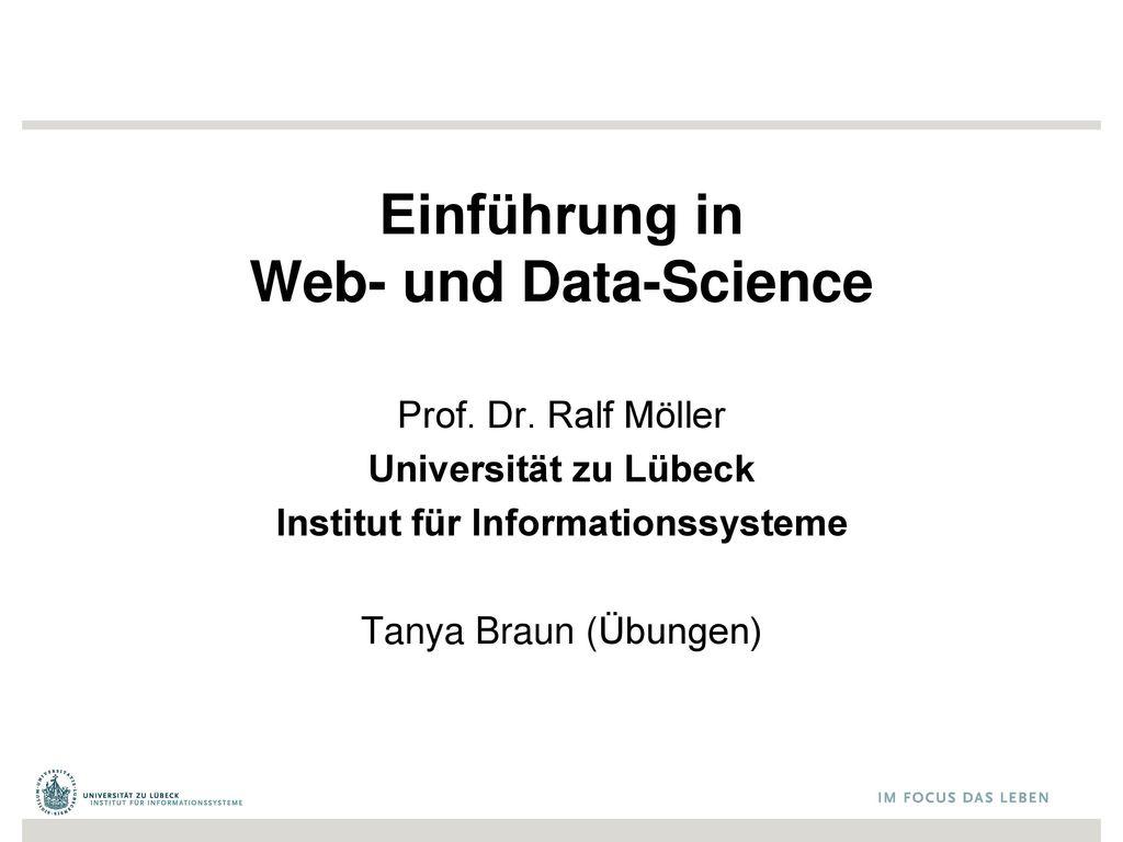 Einführung in Web- und Data-Science
