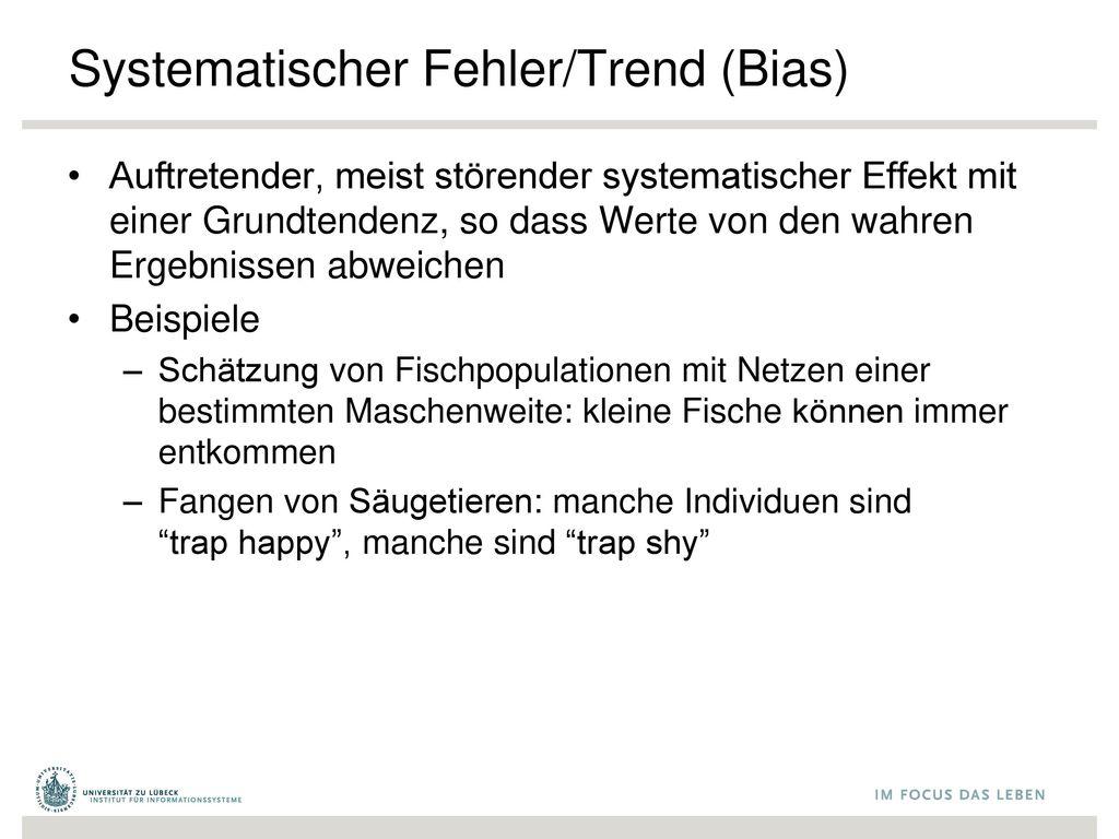 Systematischer Fehler/Trend (Bias)
