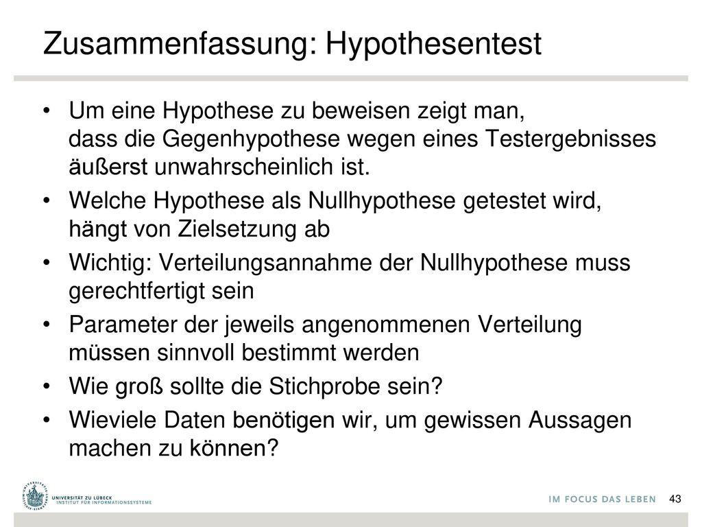 Zusammenfassung: Hypothesentest