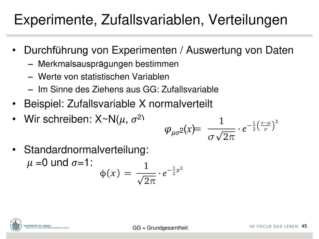 Experimente, Zufallsvariablen, Verteilungen