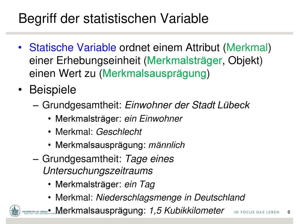 Begriff der statistischen Variable