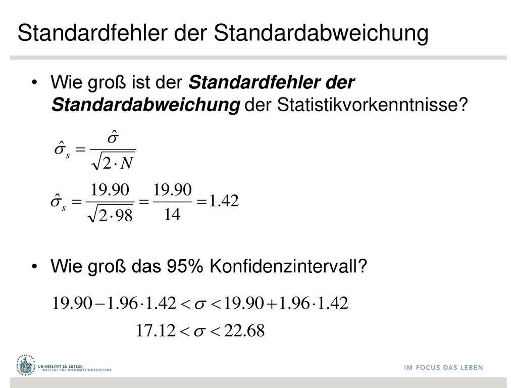 Standardfehler der Standardabweichung