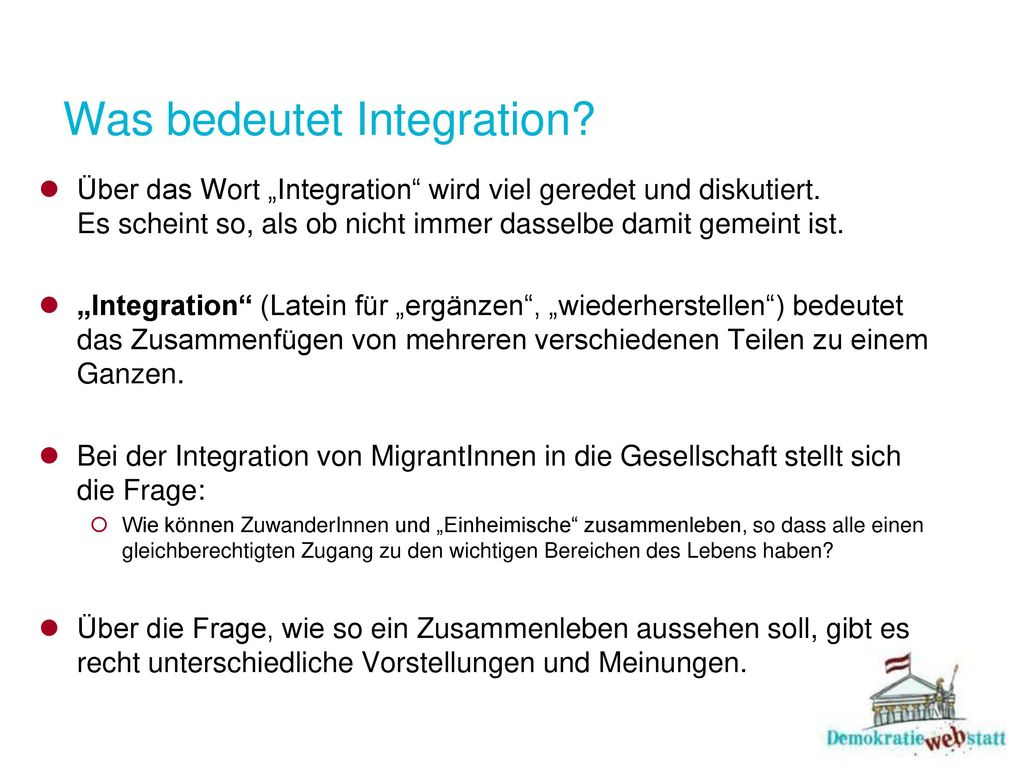 Was bedeutet Integration