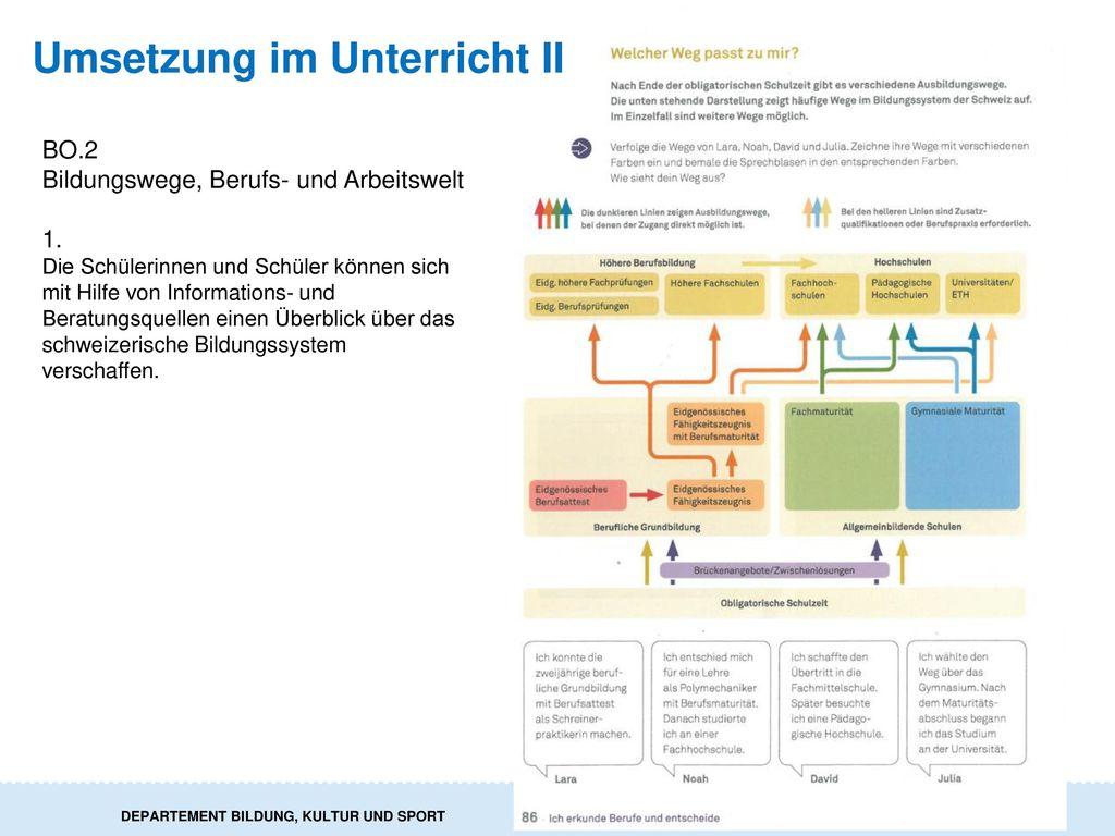 Umsetzung im Unterricht II