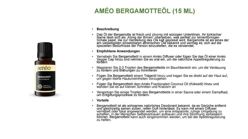 AMÉO BERGAMOTTEÖL (15 ML)