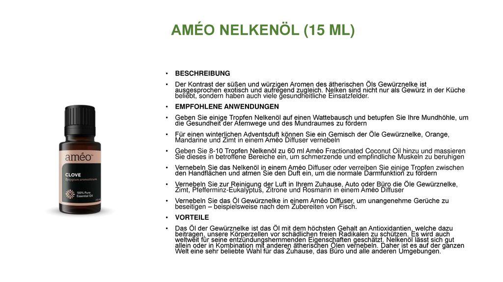 AMÉO NELKENÖL (15 ML) BESCHREIBUNG