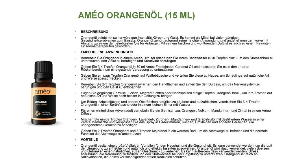 AMÉO ORANGENÖL (15 ML) BESCHREIBUNG