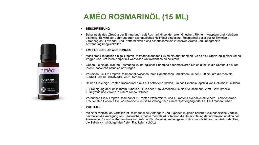 AMÉO ROSMARINÖL (15 ML) BESCHREIBUNG
