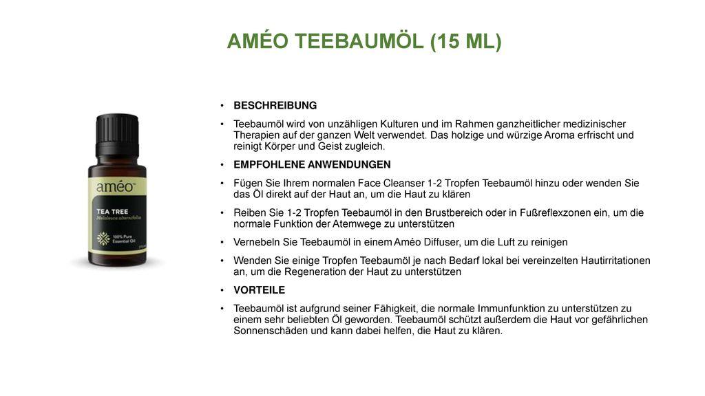 AMÉO TEEBAUMÖL (15 ML) BESCHREIBUNG
