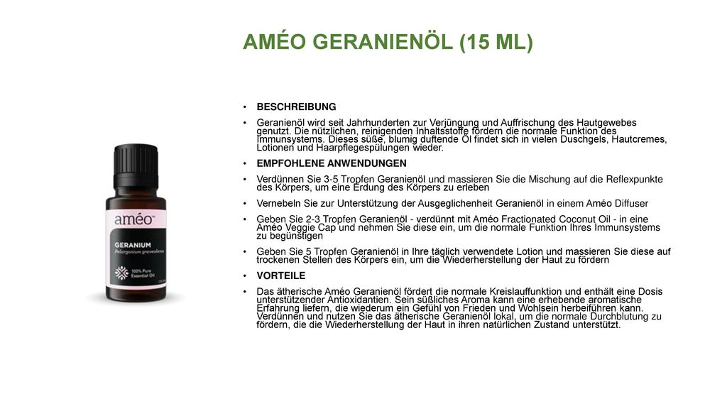 AMÉO GERANIENÖL (15 ML) BESCHREIBUNG