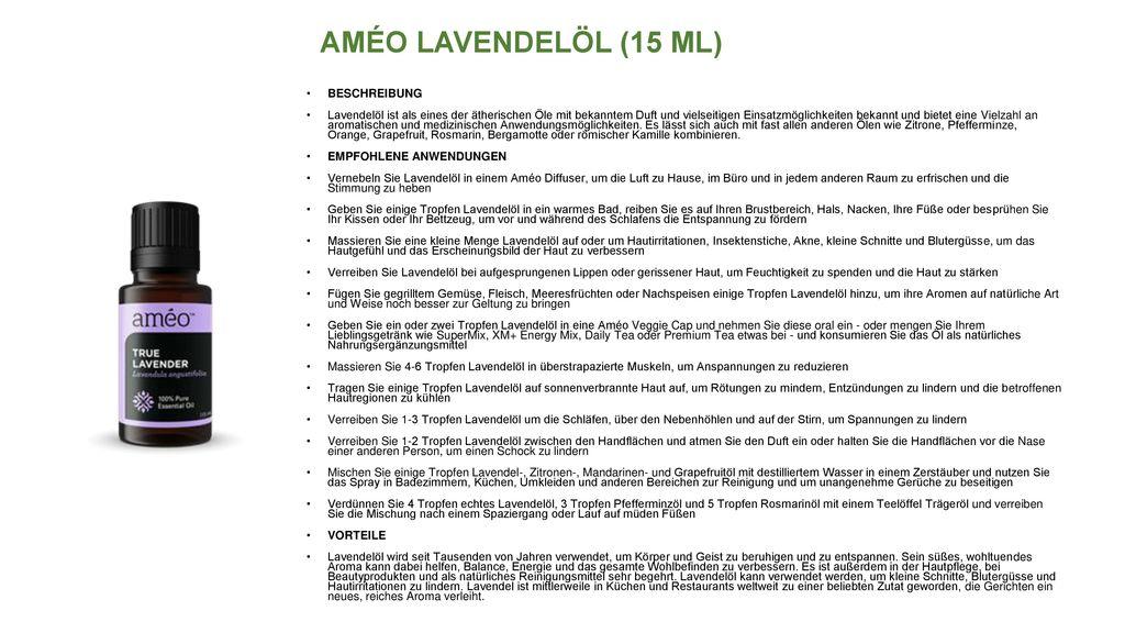 AMÉO LAVENDELÖL (15 ML) BESCHREIBUNG