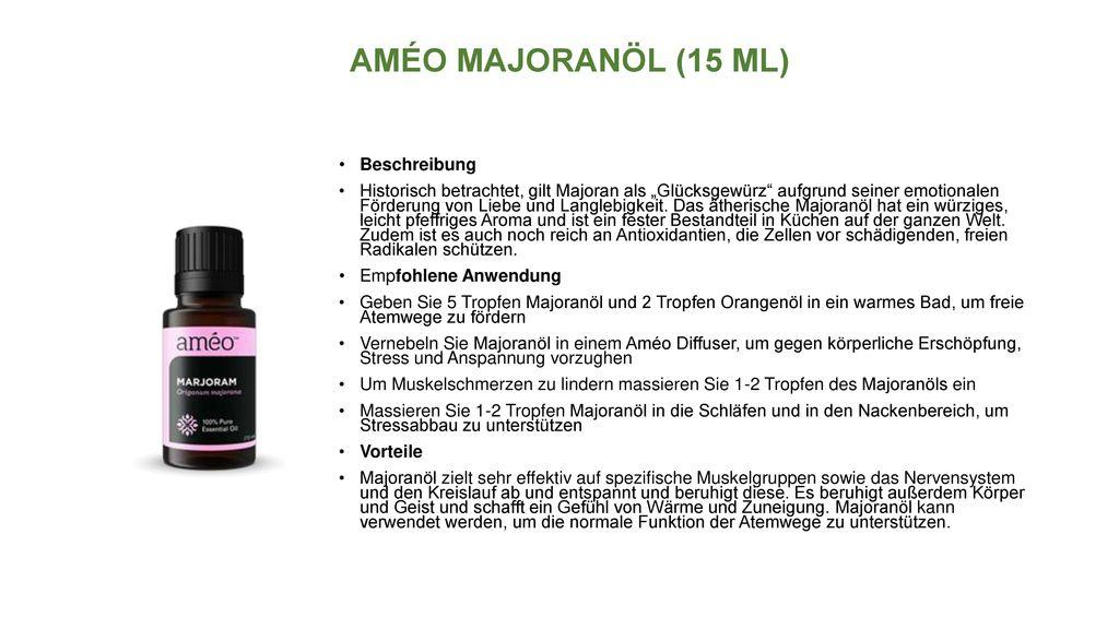AMÉO MAJORANÖL (15 ML) Beschreibung