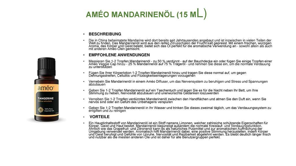 AMÉO MANDARINENÖL (15 ML)