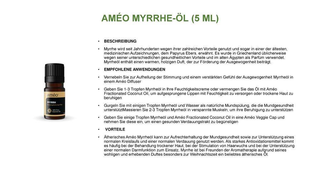 AMÉO MYRRHE-ÖL (5 ML) BESCHREIBUNG