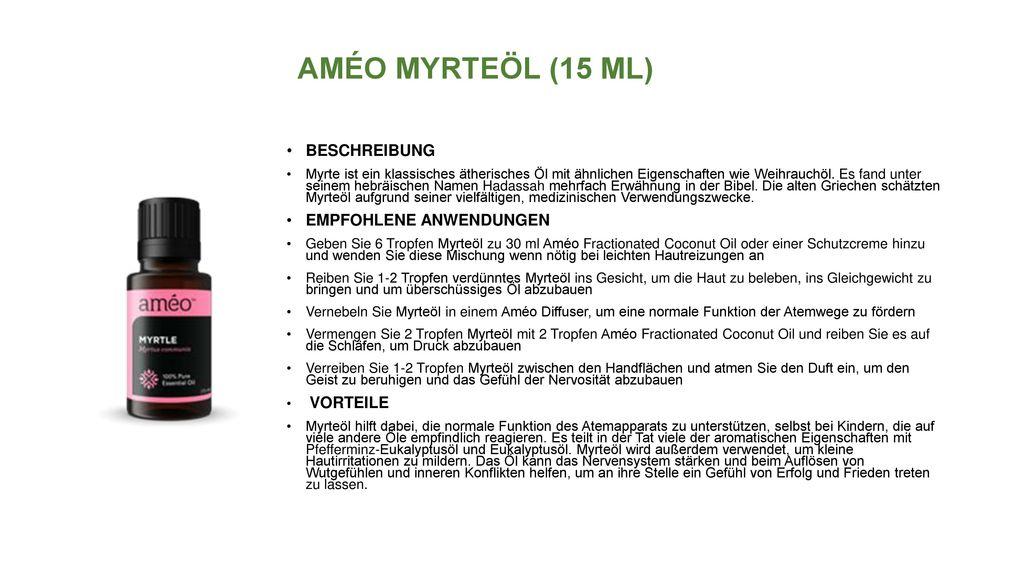 AMÉO MYRTEÖL (15 ML) BESCHREIBUNG EMPFOHLENE ANWENDUNGEN