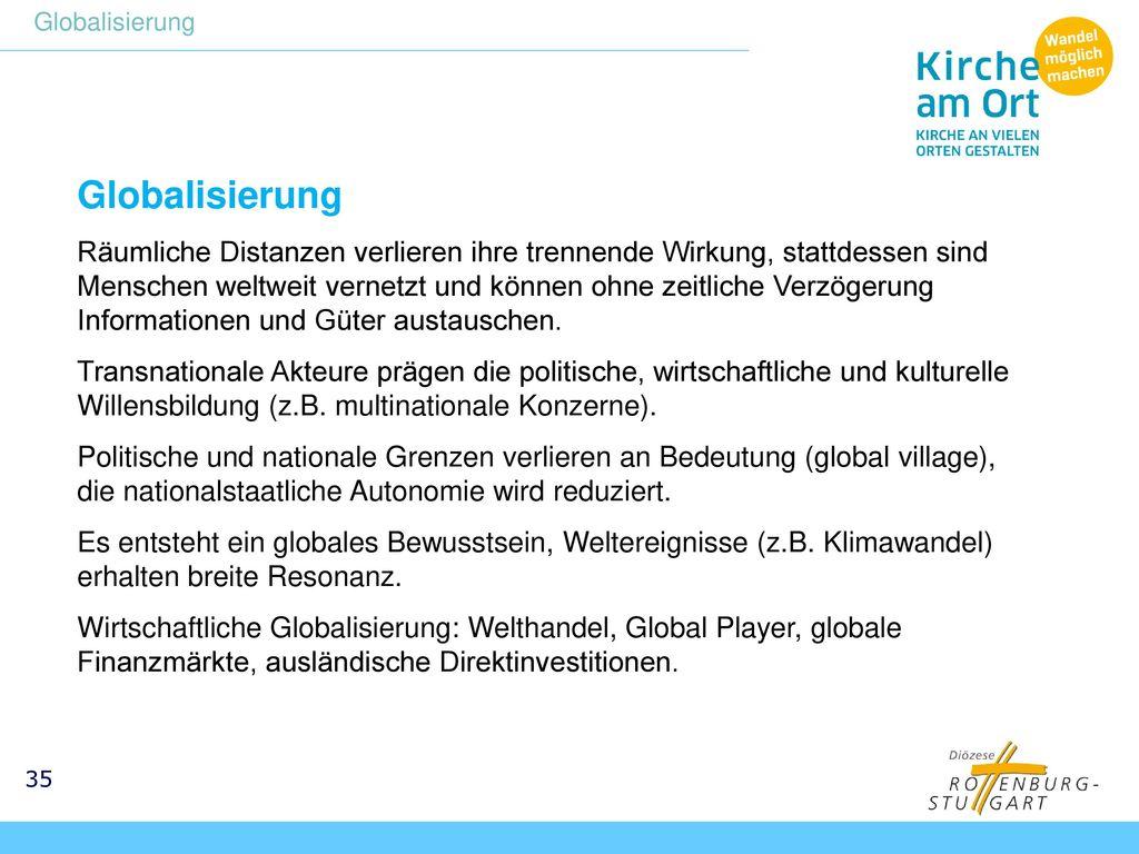 Globalisierung Globalisierung.