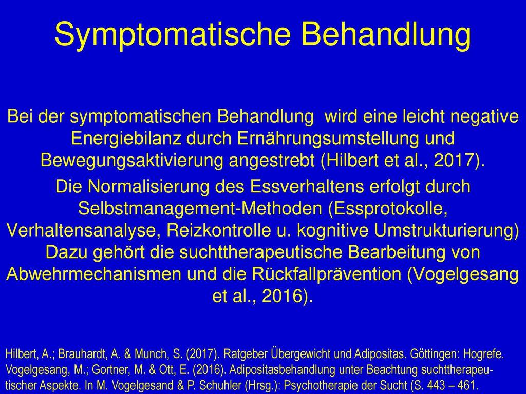 Symptomatische Behandlung