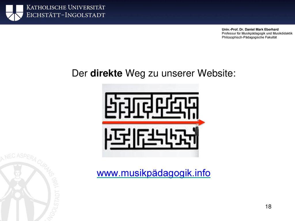 Der direkte Weg zu unserer Website: