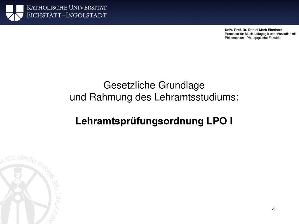 Lehramtsprüfungsordnung LPO I