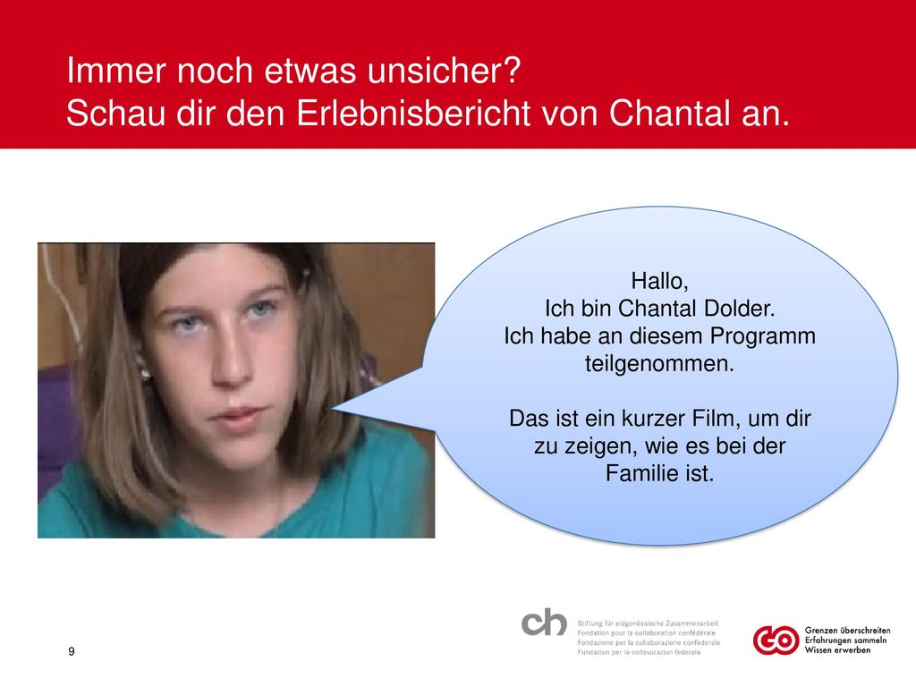 Immer noch etwas unsicher Schau dir den Erlebnisbericht von Chantal an.