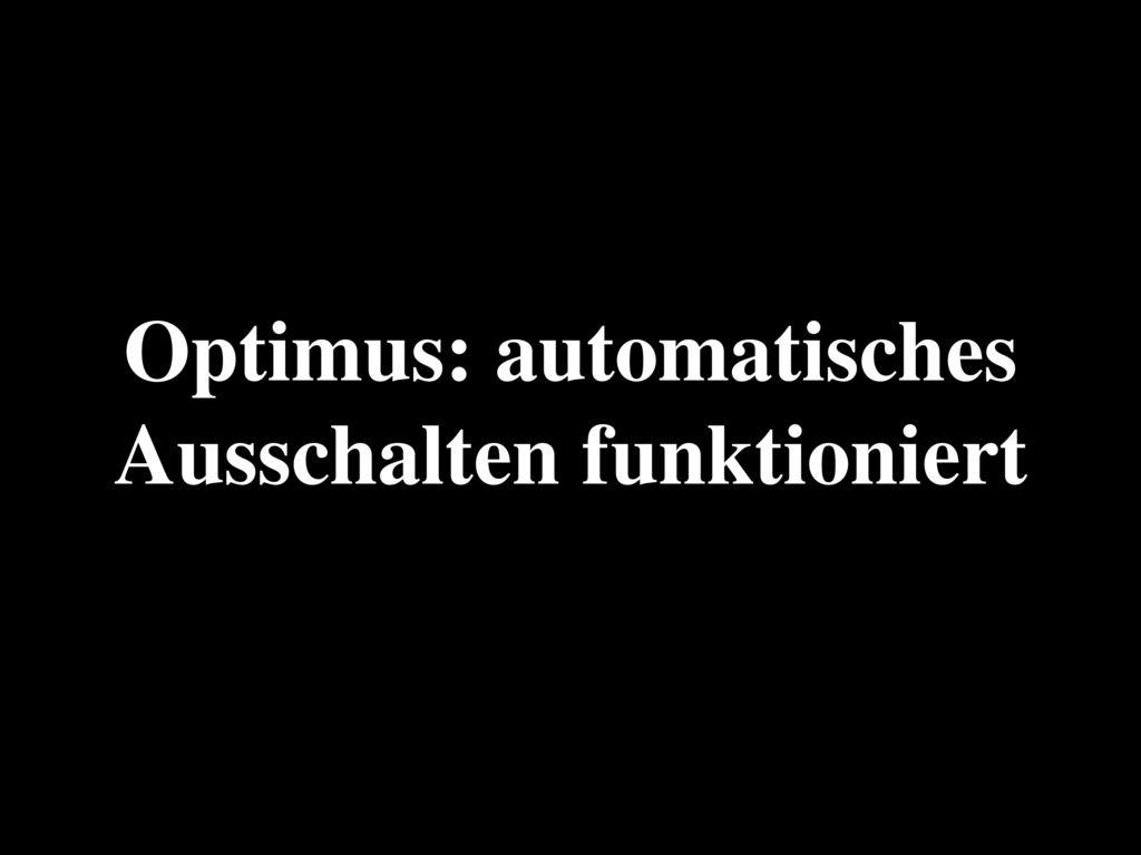 Optimus: automatisches Ausschalten funktioniert