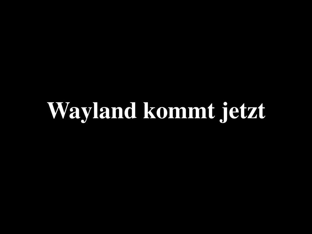 Wayland kommt jetzt