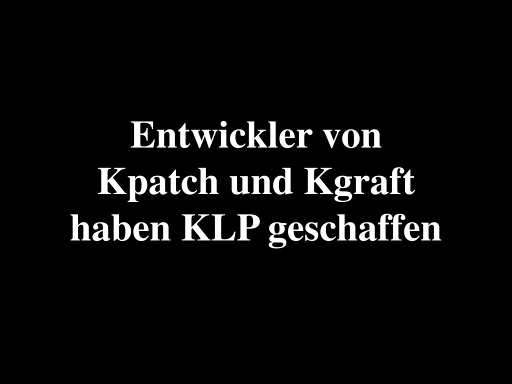 Entwickler von Kpatch und Kgraft haben KLP geschaffen