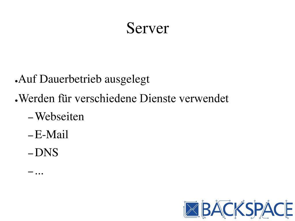 Server Auf Dauerbetrieb ausgelegt
