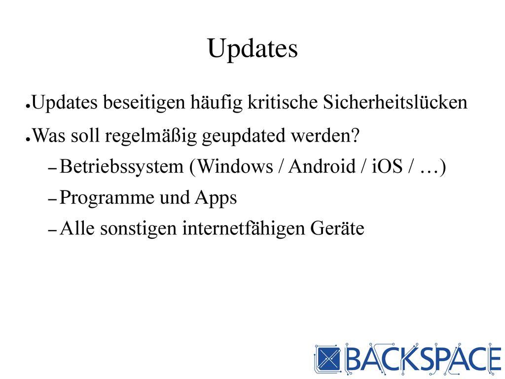 Updates Updates beseitigen häufig kritische Sicherheitslücken