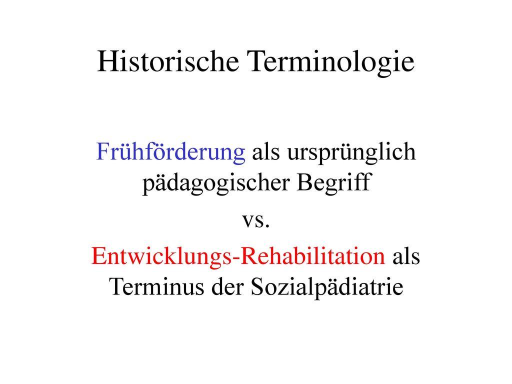 Historische Terminologie
