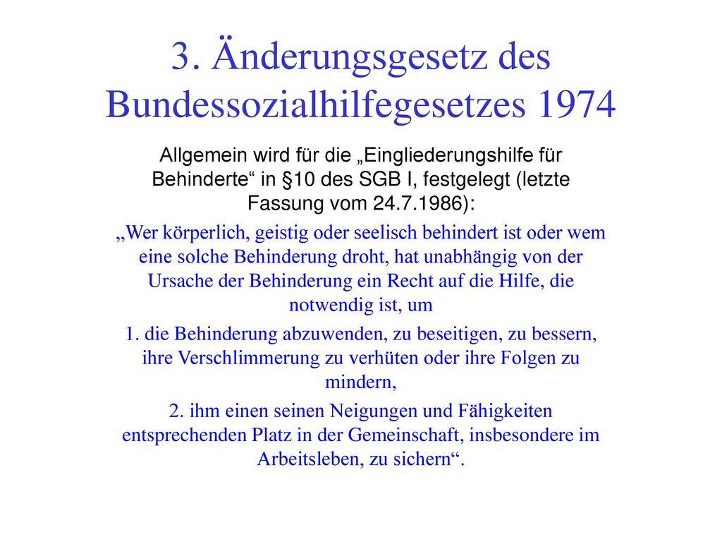 3. Änderungsgesetz des Bundessozialhilfegesetzes 1974