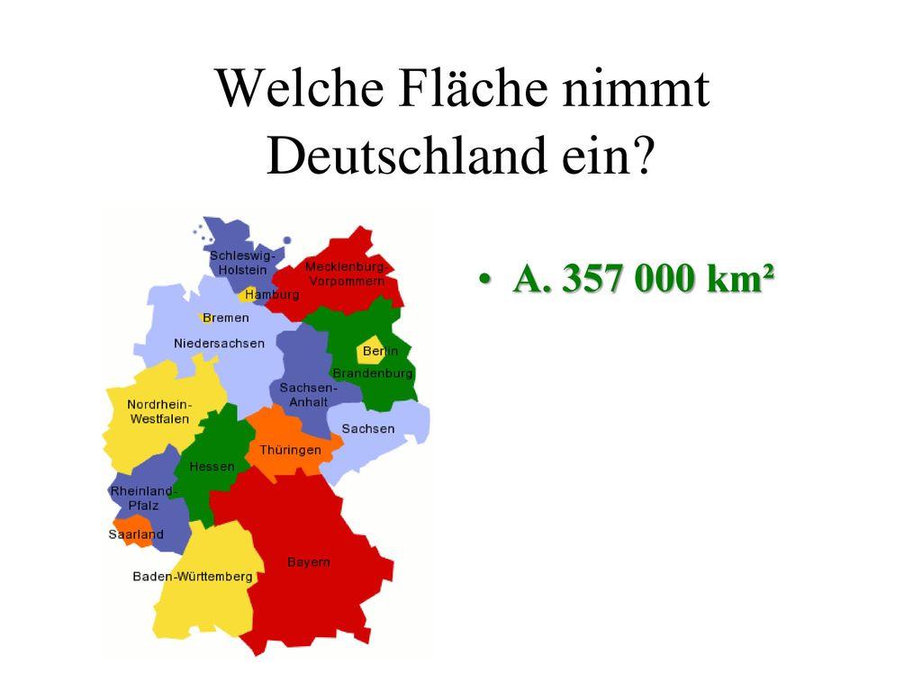 Welche Fläche nimmt Deutschland ein