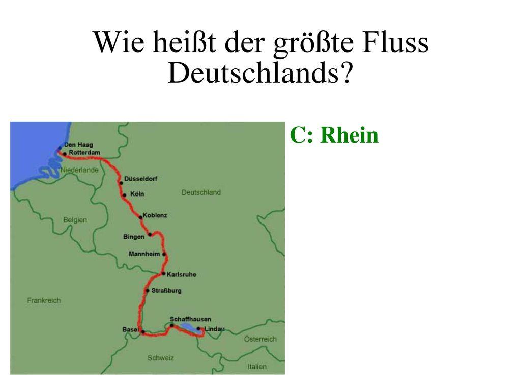 Wie heißt der größte Fluss Deutschlands