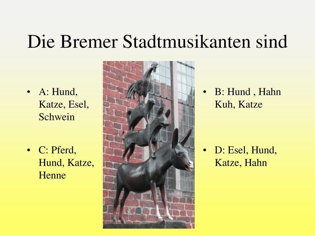 Die Bremer Stadtmusikanten sind