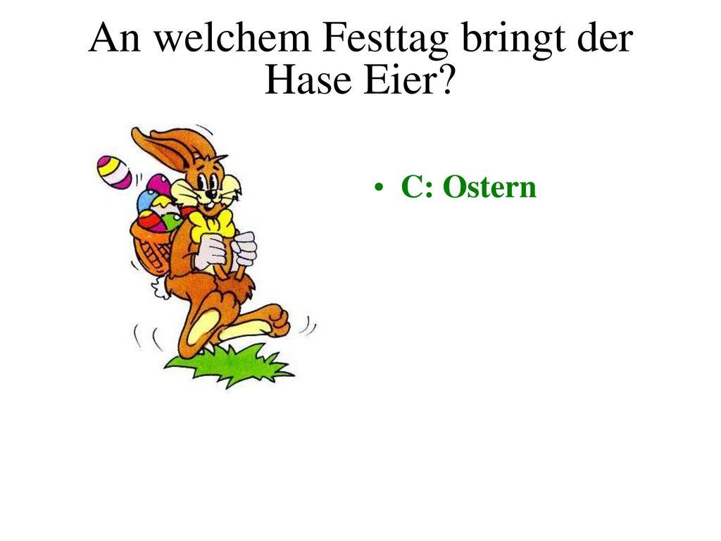 An welchem Festtag bringt der Hase Eier