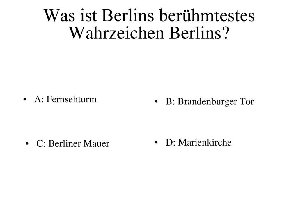 Was ist Berlins berühmtestes Wahrzeichen Berlins