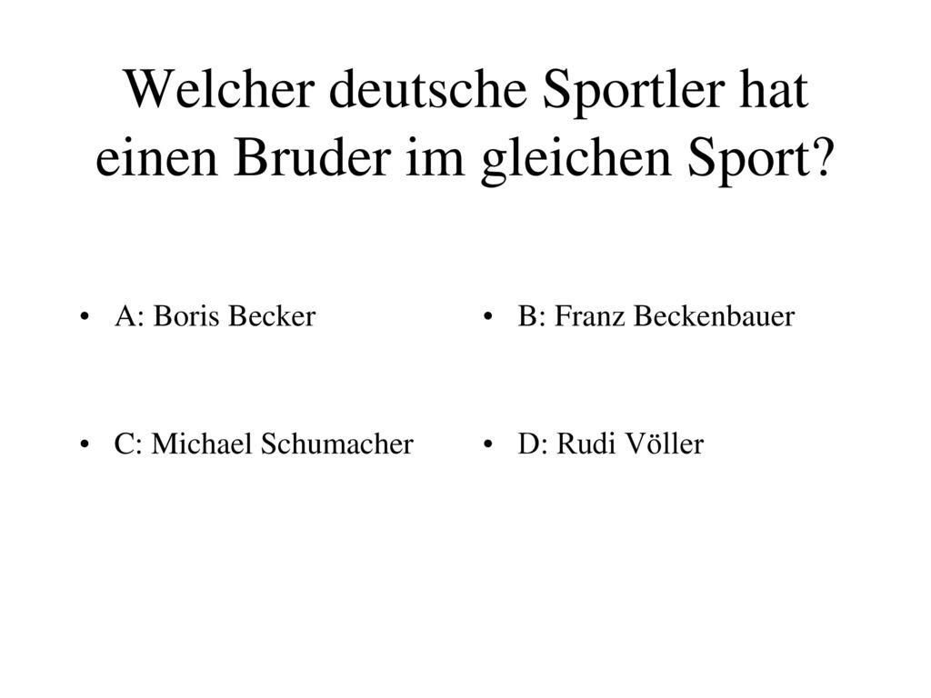 Welcher deutsche Sportler hat einen Bruder im gleichen Sport