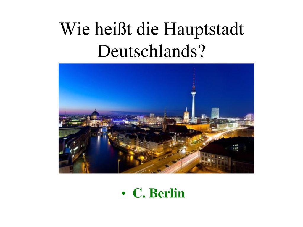 Wie heißt die Hauptstadt Deutschlands