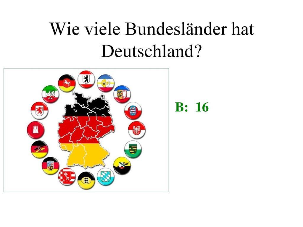 Wie viele Bundesländer hat Deutschland