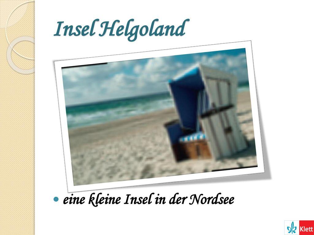Insel Helgoland eine kleine Insel in der Nordsee